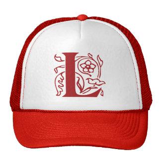 Fancy Letter L Hats