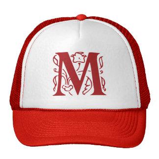 Fancy Letter M Mesh Hats