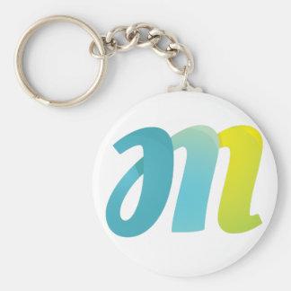 Fancy Letter M Keychain