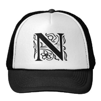 Fancy Letter N Trucker Hat