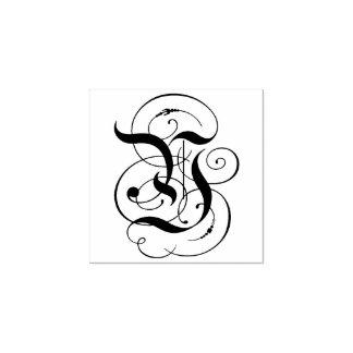 """Fancy Letter """"Y"""" Monogram Rubber Stamp"""