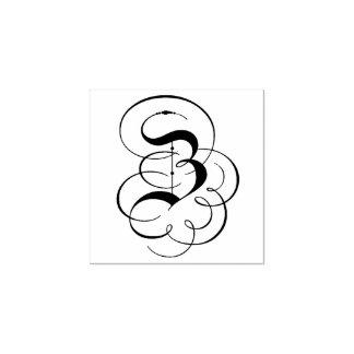 "Fancy Letter ""Z"" Monogram Rubber Stamp"