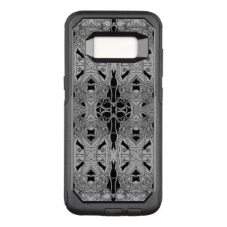 Fancy Line Art Black And White Design OtterBox Commuter Samsung Galaxy S8 Case