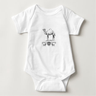 fancy lion camel baby bodysuit