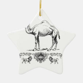 fancy lion camel ceramic ornament