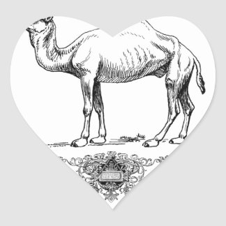 fancy lion camel heart sticker