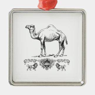 fancy lion camel metal ornament