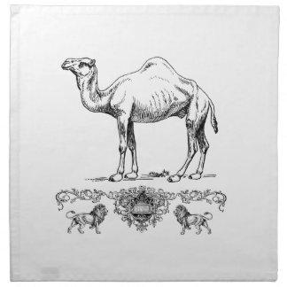 fancy lion camel napkin