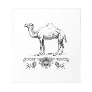 fancy lion camel notepad