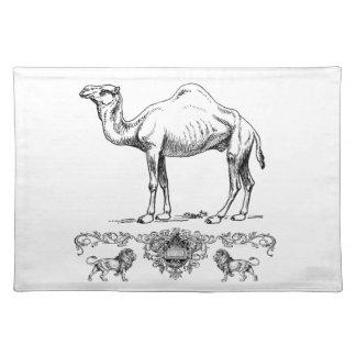 fancy lion camel placemat