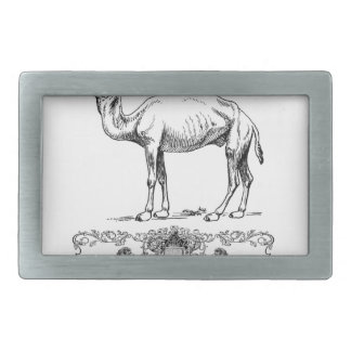 fancy lion camel rectangular belt buckle