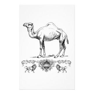 fancy lion camel stationery