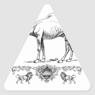 fancy lion camel triangle sticker
