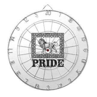 Fancy lion pride dartboard