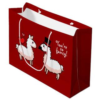 Fancy Llama Large Gift Bag