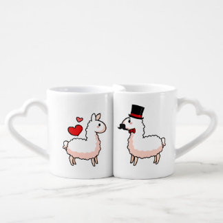 Fancy Llama & Little Llama Coffee Mug Set