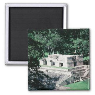 Fancy Mayan Ruins Square Refrigerator Magnet