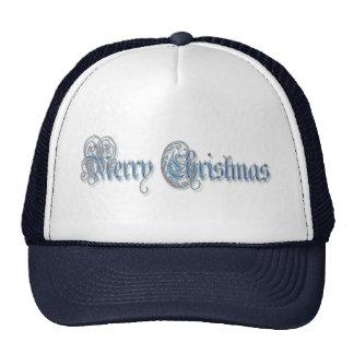 FANCY MERRY CHRISTMAS by SHARON SHARPE Trucker Hats