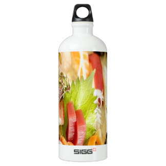 Fancy Mixed Fish Gourmet Sushi Plate Water Bottle
