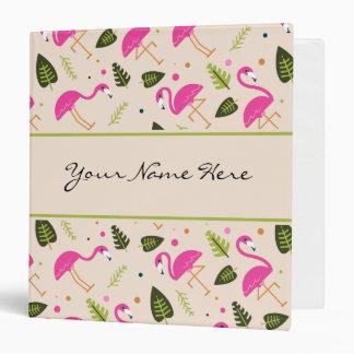 Fancy Modern Hot Pink Flamingos Wedding Theme Binders