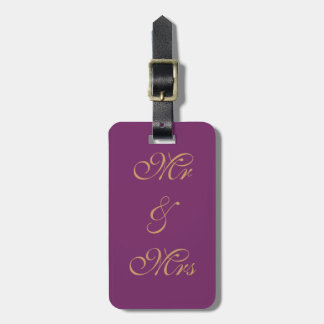 Fancy Modern Mr. & Mrs. Luggage Tag