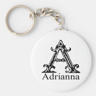 Fancy Monogram: Adrianna Keychain