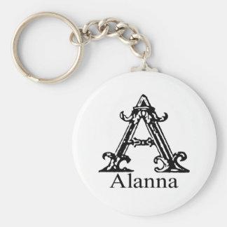 Fancy Monogram: Alanna Keychain