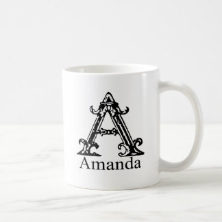 Fancy Monogram: Amanda Coffee Mug