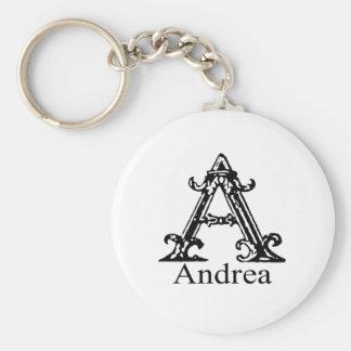 Fancy Monogram: Andrea Keychain