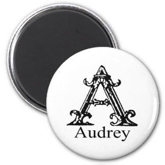 Fancy Monogram: Audrey Magnet