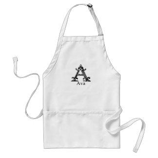 Fancy Monogram: Ava Standard Apron