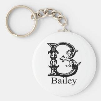 Fancy Monogram: Bailey Keychain