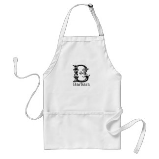 Fancy Monogram: Barbara Standard Apron