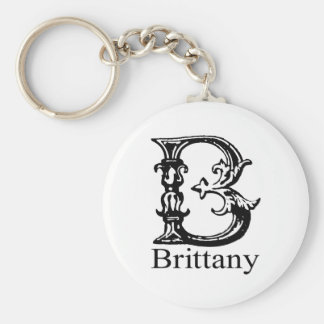 Fancy Monogram: Brittany Keychain