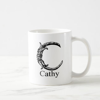 Fancy Monogram: Cathy Coffee Mug