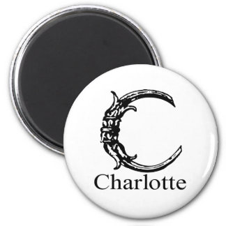 Fancy Monogram: Charlotte Magnet