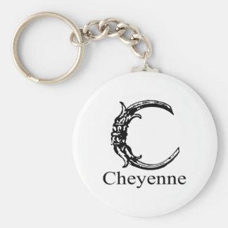 Fancy Monogram: Cheyenne Keychain