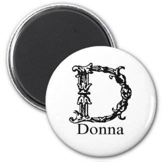 Fancy Monogram: Donna Magnet