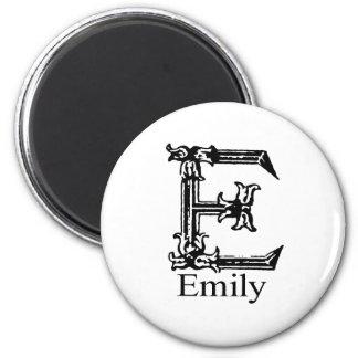Fancy Monogram: Emily Magnet