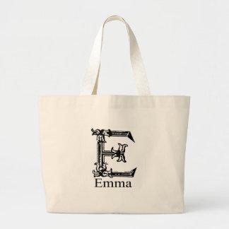 Fancy Monogram: Emma Large Tote Bag