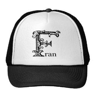 Fancy Monogram: Fran Trucker Hat