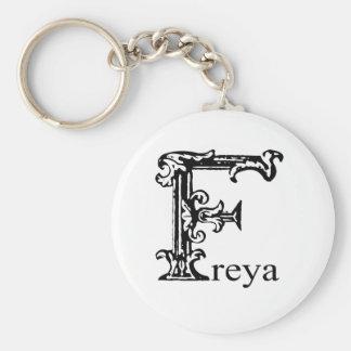 Fancy Monogram: Freya Keychain