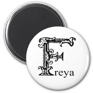 Fancy Monogram: Freya Magnet