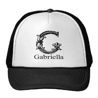 Fancy Monogram Gabriella Trucker Hats