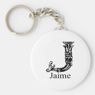 Fancy Monogram: Jaime Keychain