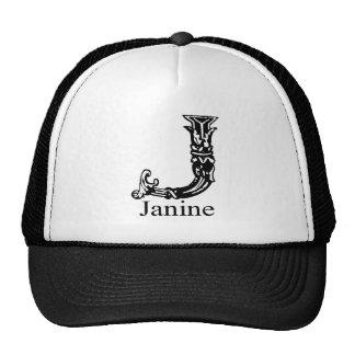 Fancy Monogram Janine Trucker Hats