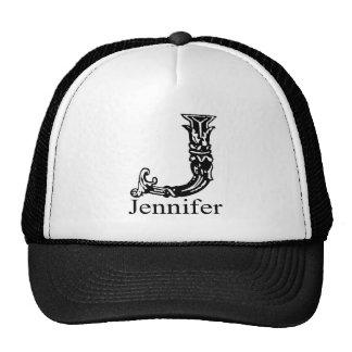 Fancy Monogram Jennifer Trucker Hats