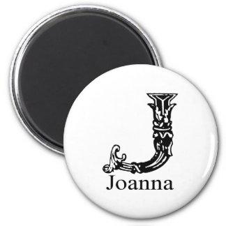 Fancy Monogram: Joanna Magnet