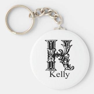Fancy Monogram: Kelly Keychain