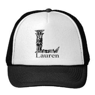 Fancy Monogram Lauren Mesh Hat